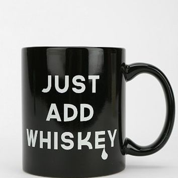 Just add whiskey quote mug funny