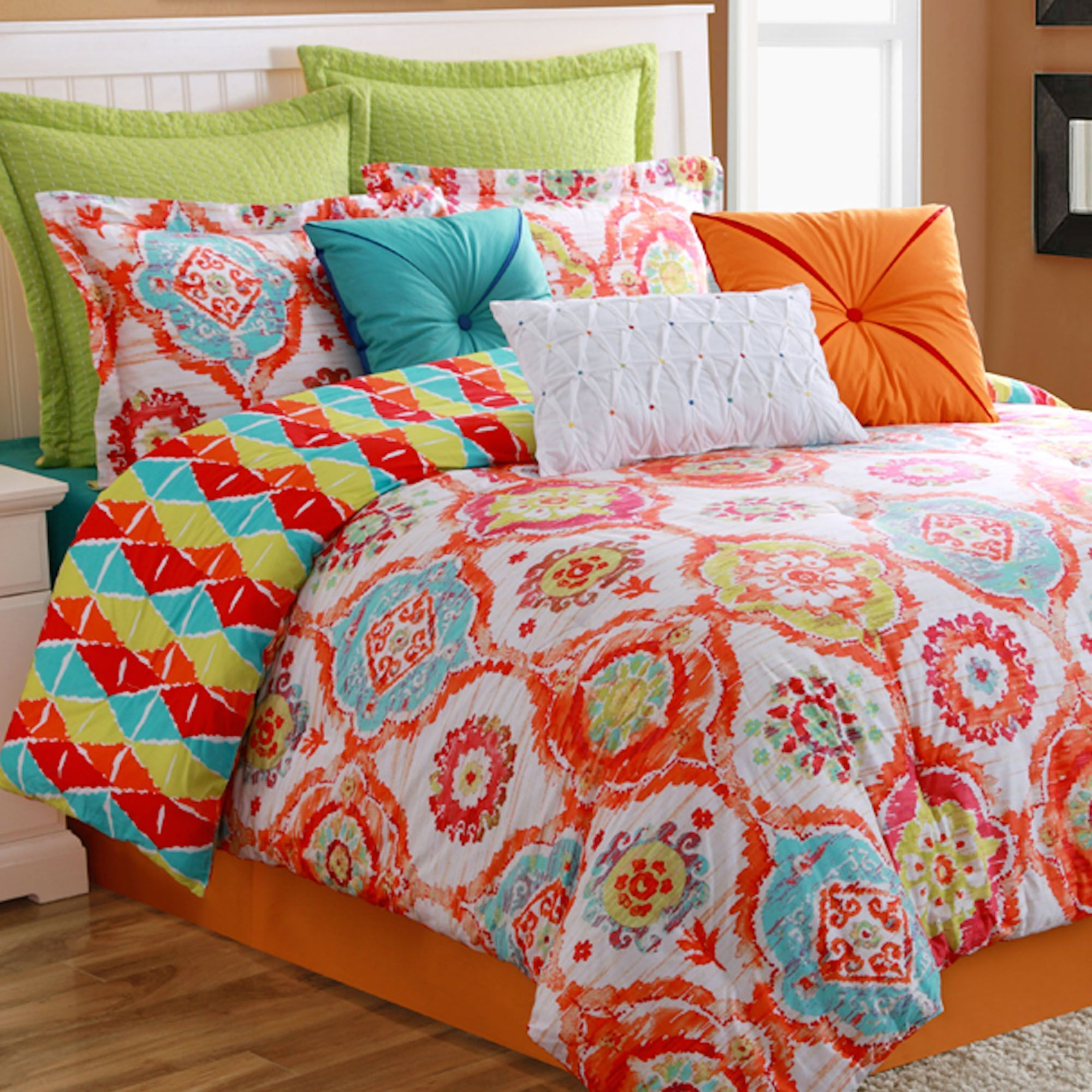 Bedroom Colorful Bohemian Comforter Sets Full Comforter For Bed Covering Idea In 2020 Comforter Sets Full Comforter Sets Twin Comforter Sets