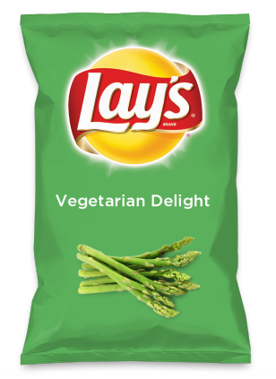 Wouldn't Vegetarian Delight be yummy as a chip? Lay's Do Us A Flavor is back, and the search is on for the yummiest flavor idea. Create a flavor, choose a chip and you could win $1 million! https://www.dousaflavor.com See Rules.