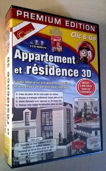 Logiciel PC windows - APPARTEMENT et RESIDENCE 3D Logiciel - Logiciel De Maison 3d