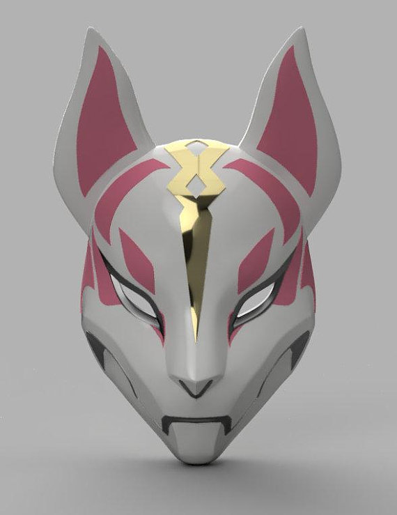 Kitsune Mask 3d Model Stl Files Products Pinterest 3d Drawings