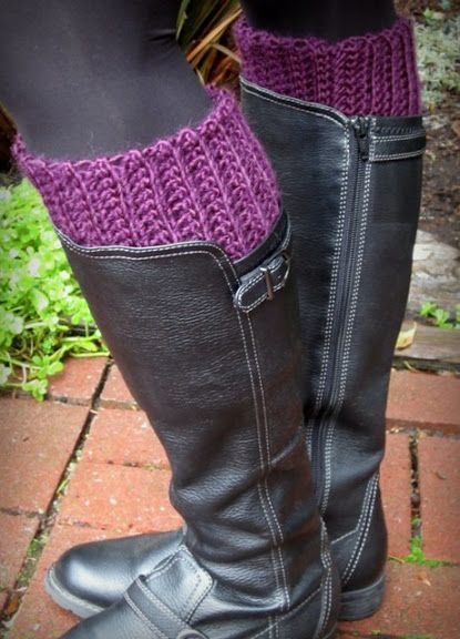 Lacy Crochet: My New Warm and Comfy Boot Inserts: FREE basic ...