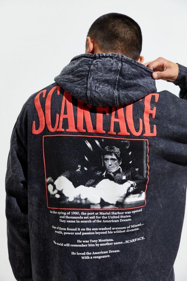 Medium RRP £52 Urban Outfitters Black Scarface Hooded Sweatshirt