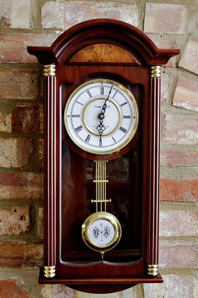 Vintage London Clock Company Wall Quartz Clock With Westminster Chimes Londonclockcompany Artdecostyle Vintage Clock Vintage Wall Clock Clock