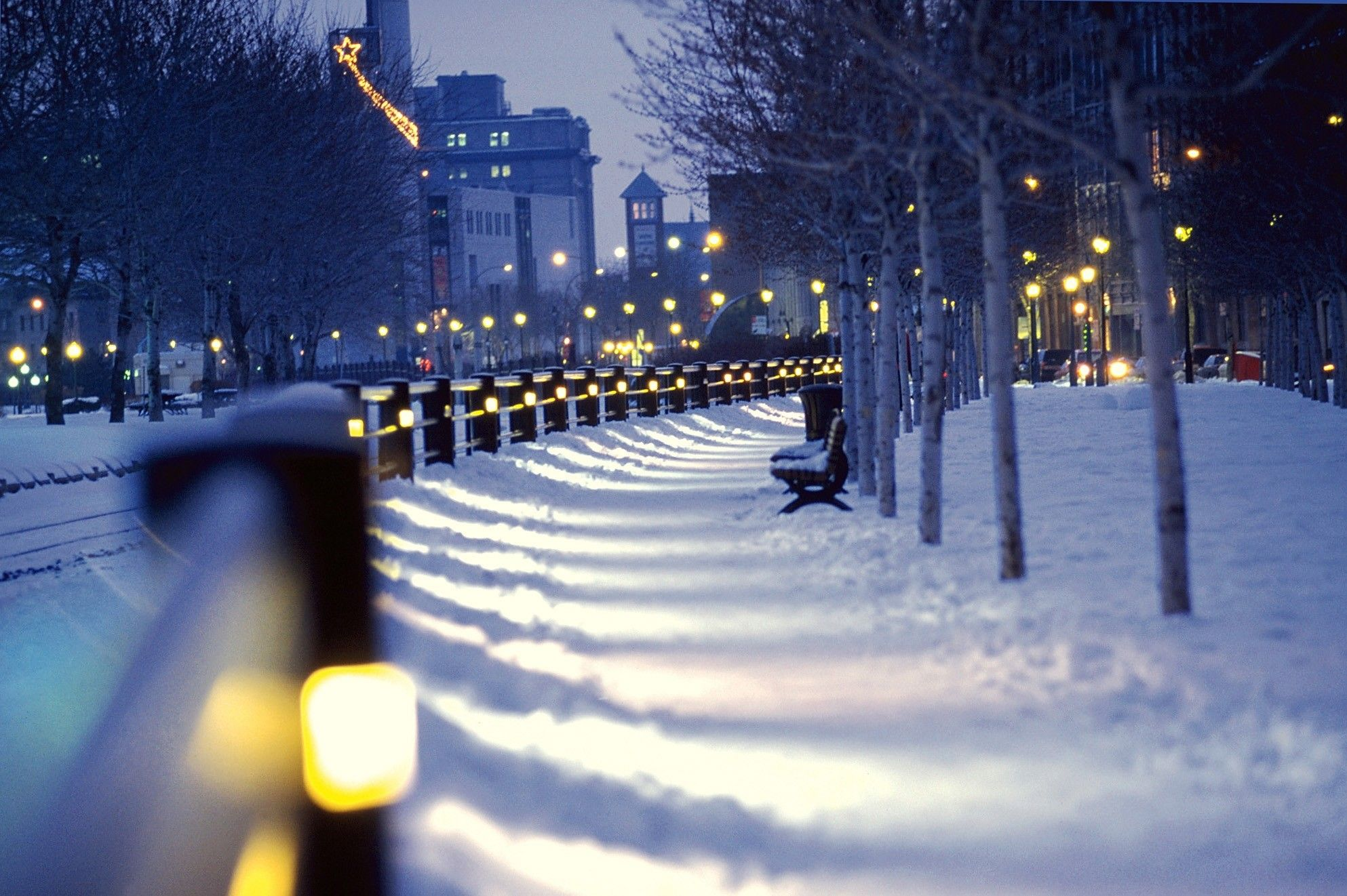 Path In The Park Full With Snow Hd Winter Wallpaper Misc Stuff Wallpapers Hd Wallpaper Download For Ipad And Iphone Widescreen 2160p Uhd 4k Hd 16 9 16 10