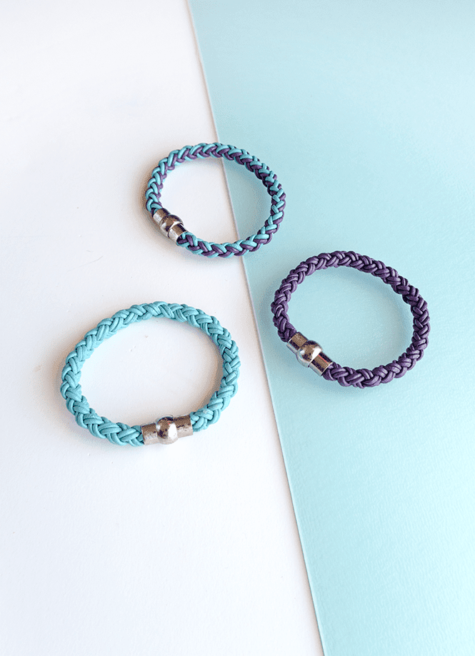 Learn How To Make A 4 Strand Round Braid And Create These Braided Leather Friendship Bracelets