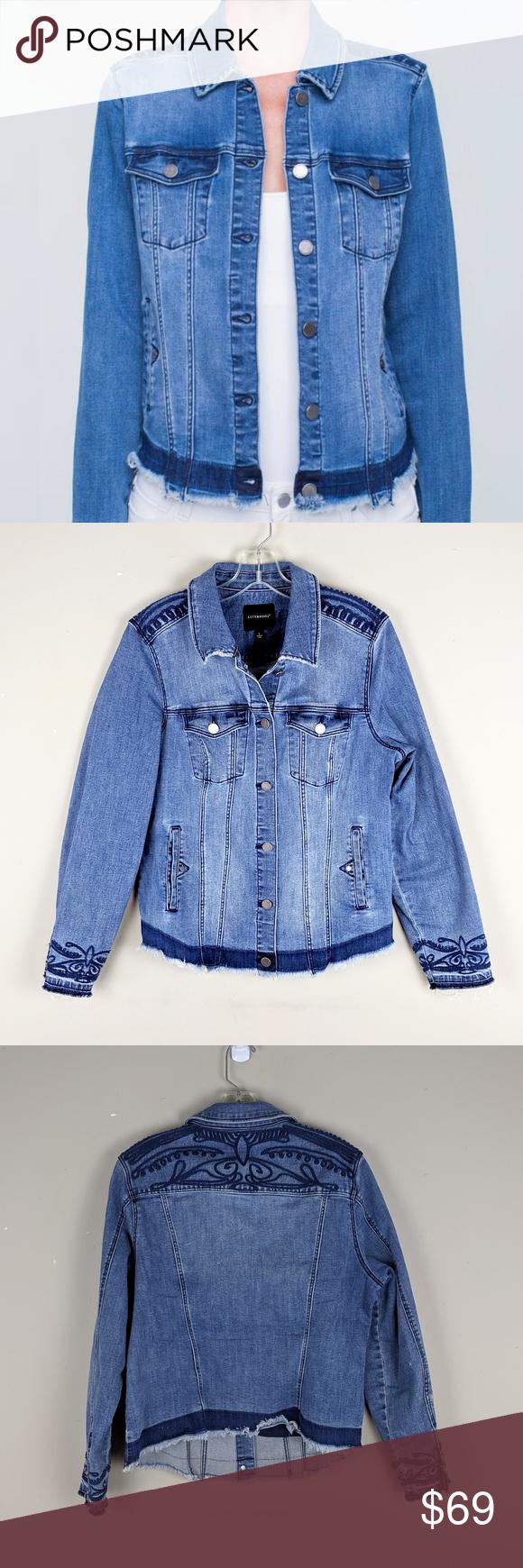 Liverpool Embroidered Boho Denim Jacket E60 Boho Denim Boho Style Jackets Trendy Denim [ 1740 x 580 Pixel ]