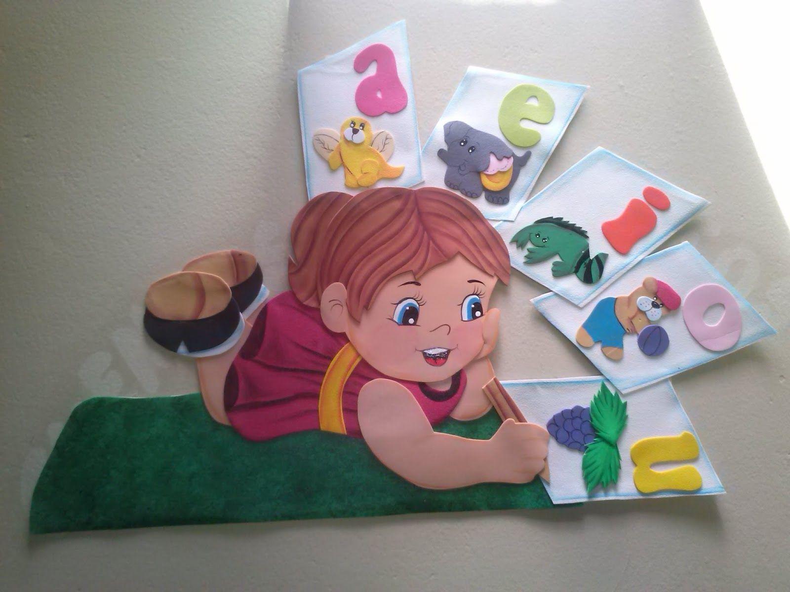 Simp ticos carteles elaborados en goma eva para decorar el - Decorar paredes infantiles con goma eva ...