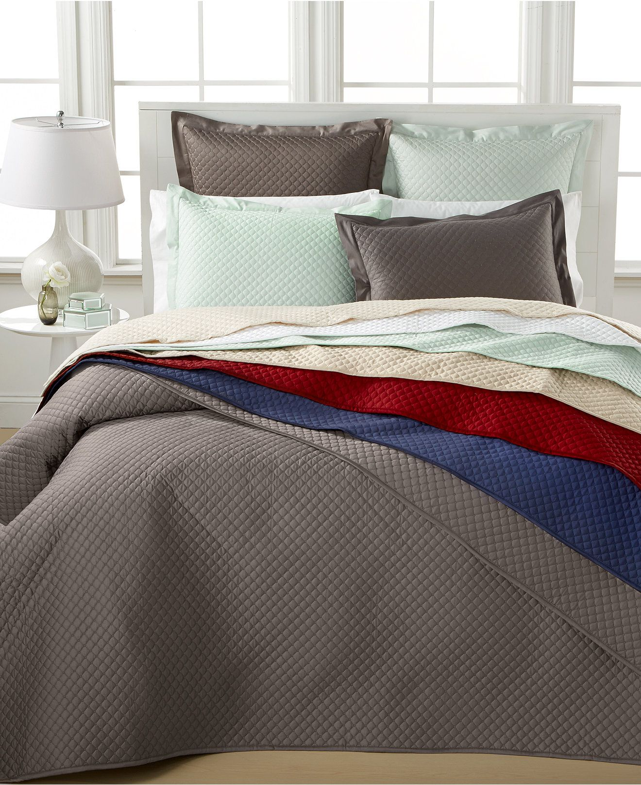 Closeout! Charter Club Damask Quilted King 3-Pc. Coverlet Set ... : coverlet vs quilt - Adamdwight.com