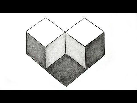 how to draw the impossible square step by step