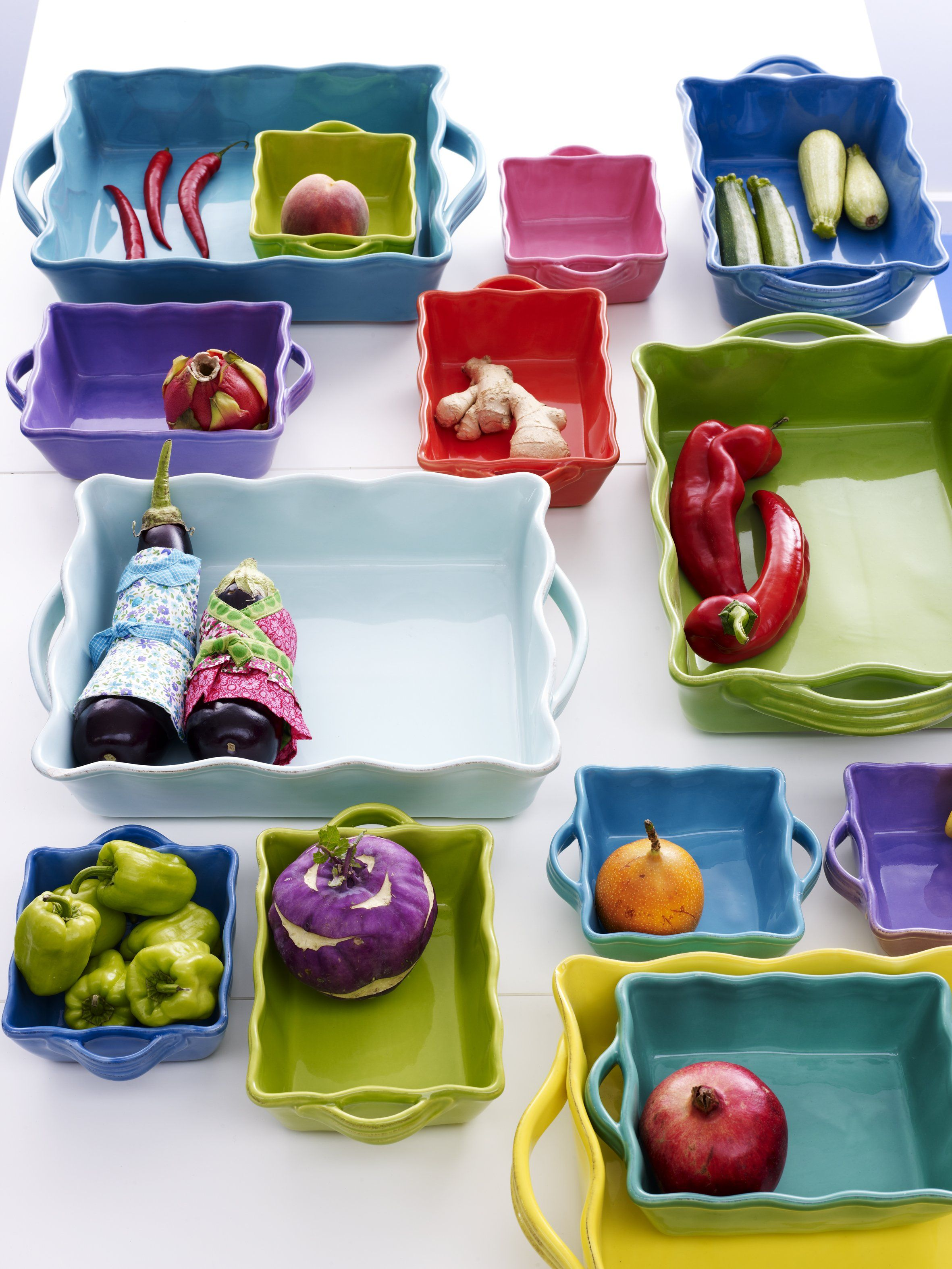 Colorful Oven Dishes from the RICE Italian Tableware Collection & Colorful Oven Dishes from the RICE Italian Tableware Collection ...