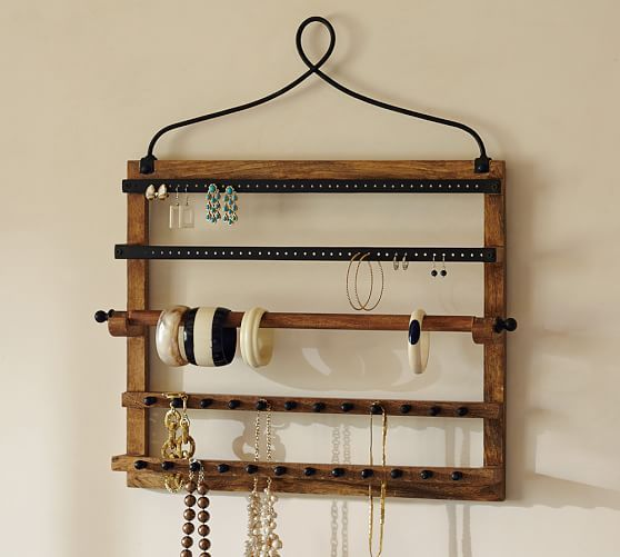 Pine Amp Iron Wall Mounted Jewelry Hanger Jewelry Hanger