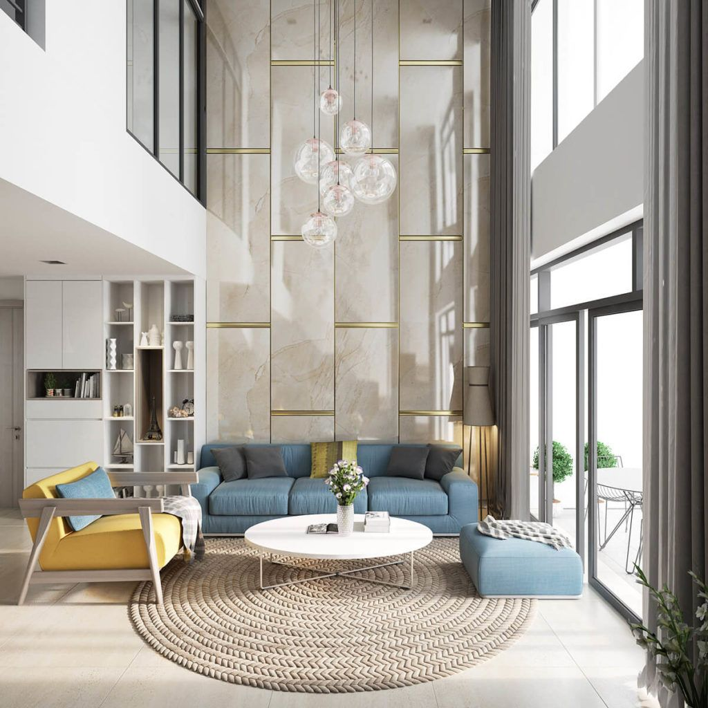 25 Decorating Small Spaces Taken From Pinterest Design Ideas Luxury Interior Design Living Room High Ceiling Living Room Luxury Living Room