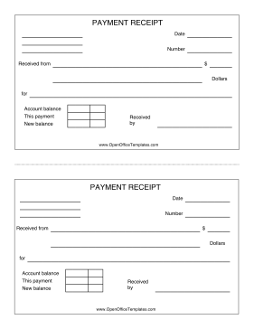 Great For Cash And Other Payment Transactions This Printable Receipt Can Be Printed Two To A Page Receipt Template Openoffice Templates Free Receipt Template