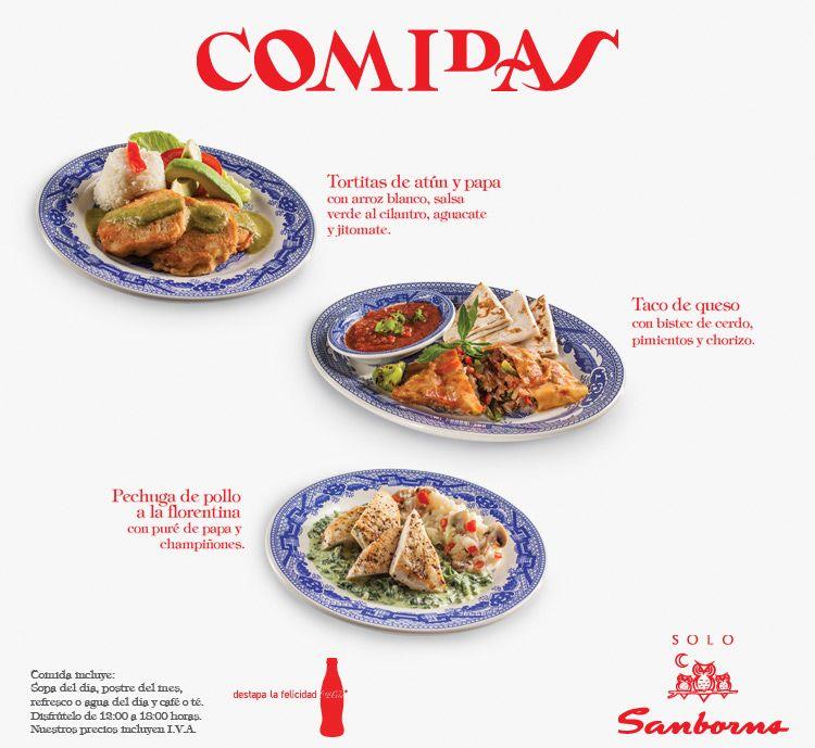 Comidas sanborns diciembre 2014 platillos de cafeteras for Menu de sanborns