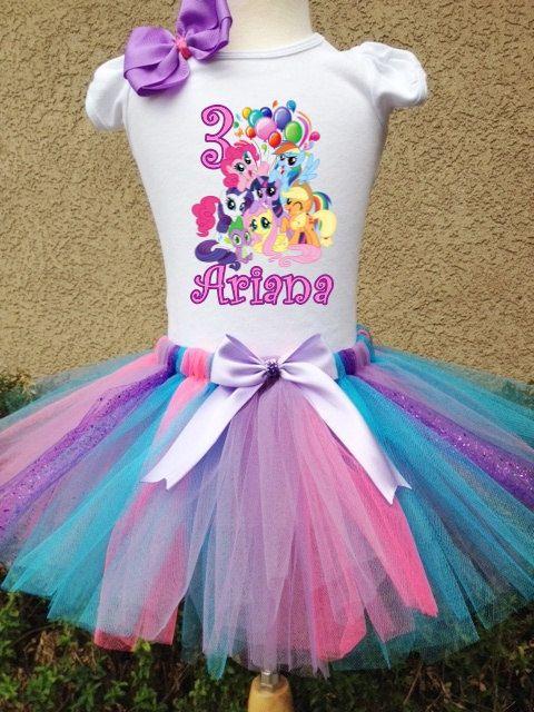 f80c24f94e80 ... Birthday Tutu Outfit. My Little Pony Rainbow Dash Pinkie Pie by  BirthdaysAndBows on Etsy