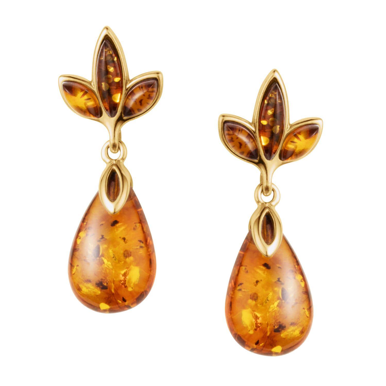 Sunset Baltic Amber Earrings