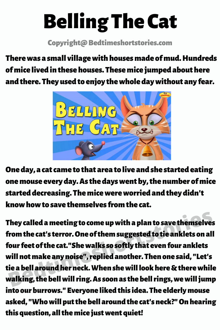 Belling The Cat in 2020 English stories for kids, Kids