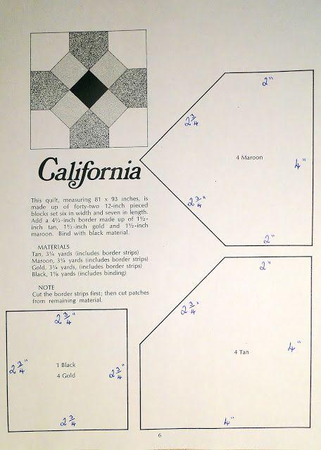 Lilbitbrit: #5 California Quilt Square | Crafts 28 | Pinterest