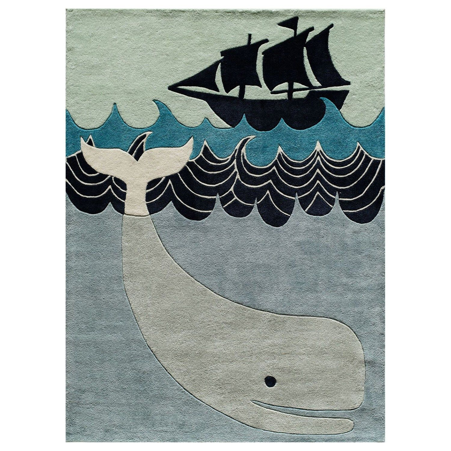 Momeni Lil Mo Whimsy Whale Rug Kids Area Rugs Tufted Rug Colorful Rugs