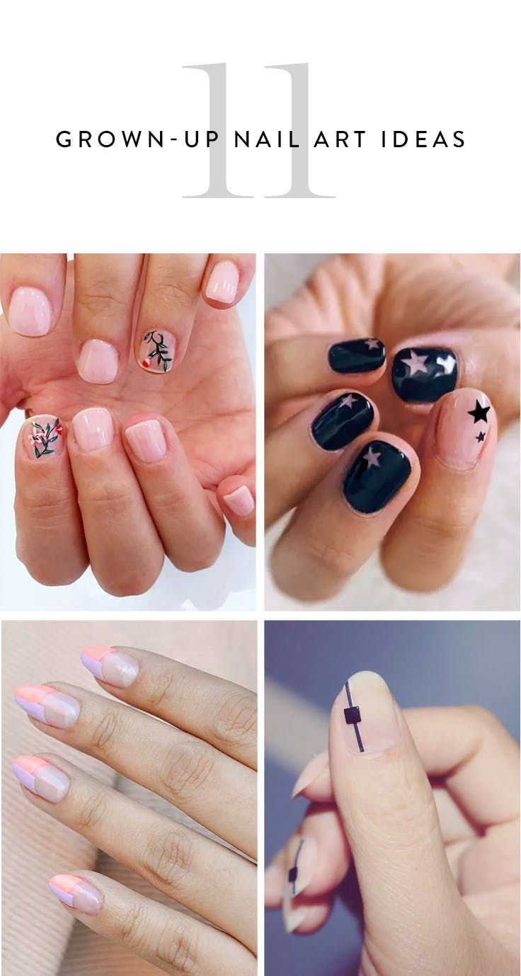 11 New Grown-Up Nail Art Ideas to Try This Spring | Hair studio ...