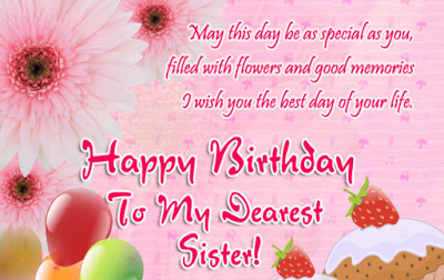Top 27 images happy birthday wishes for sister and wishes