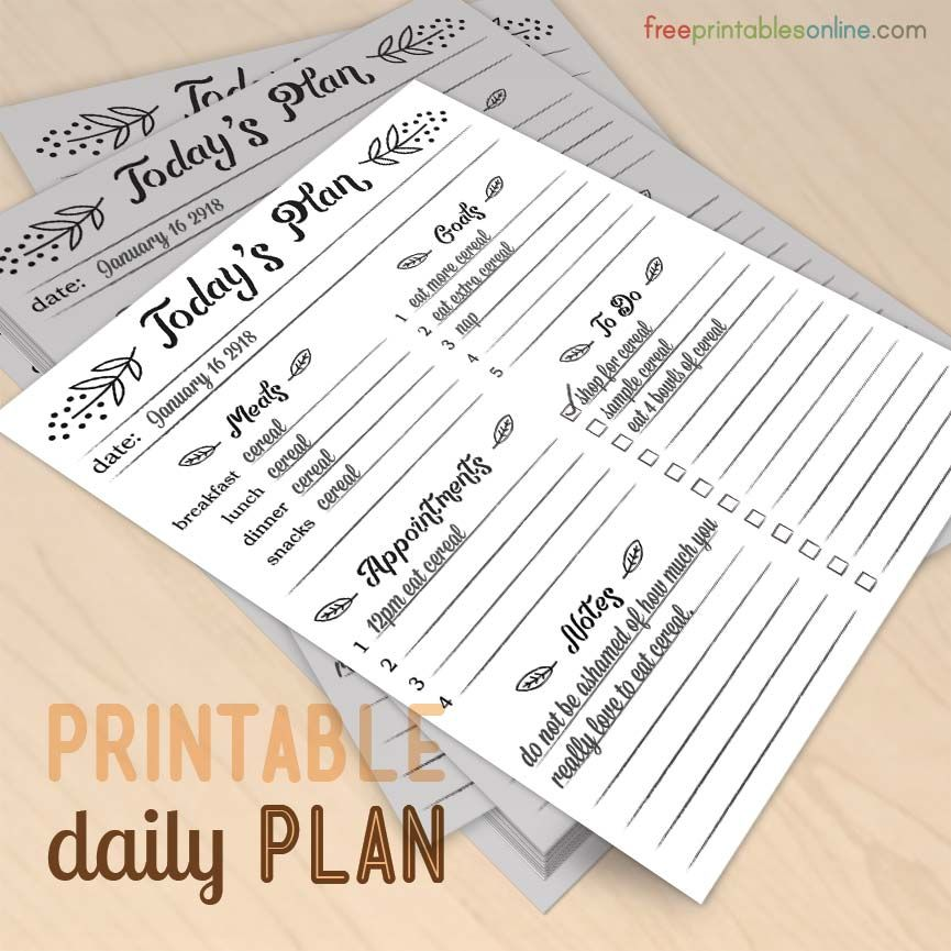 modern elements today s plan daily planner free printables online