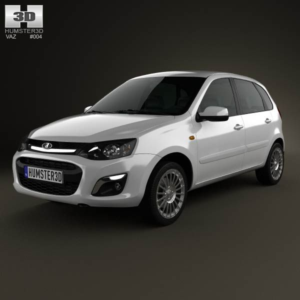 Lada Kalina 2 hatchback 2013 3d model from humster3d com  Price: $75