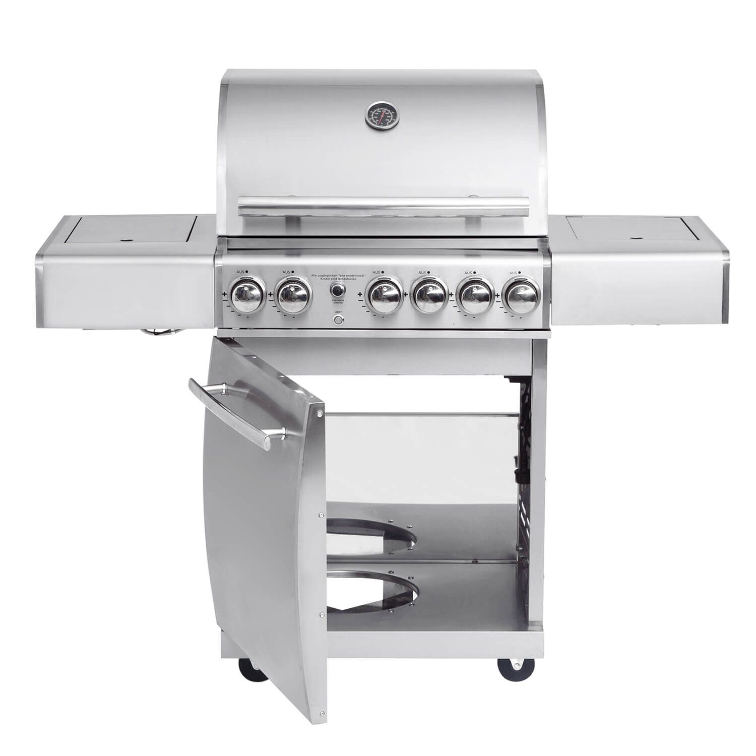 Top Line All Grill Chef M Mit Air System Volledelstahl Gas Grill Mit All Grill Air System Gesamtleistung 21 2 Kw 3 Edelstahl Grill Gasgrill Grillen