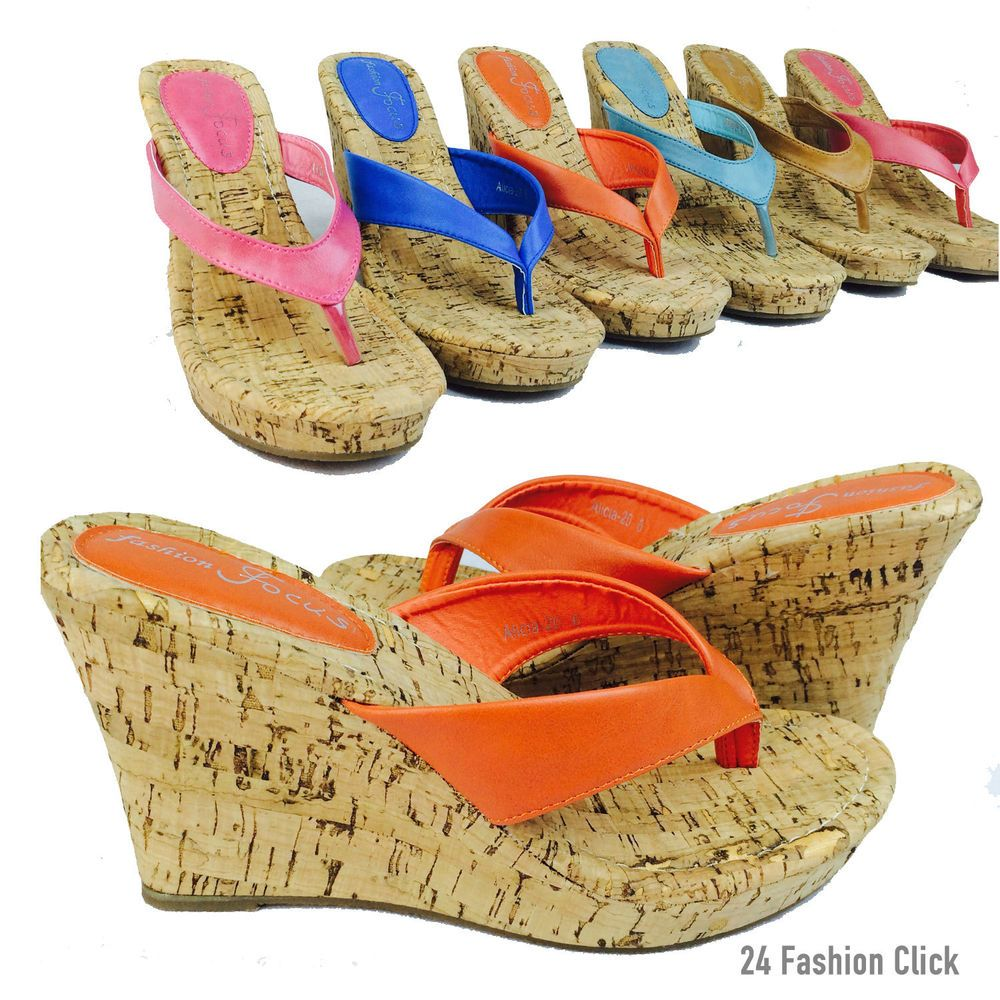 Women s Flip Flops Platform Thong Sandals Wedge Heel Shoes size 5-10   FashionFocus  WedgePlatformSandals e30f8f6f509a