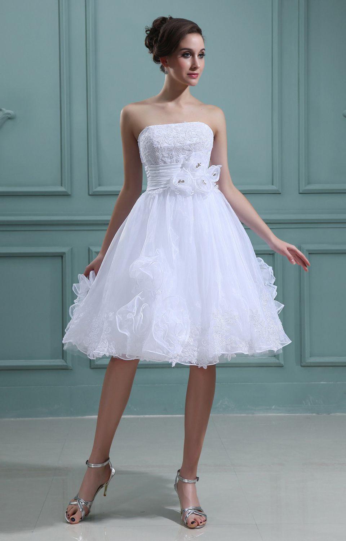 Hochzeitskleid Weiß Kurz - Valentins Day   Hochzeitskleid