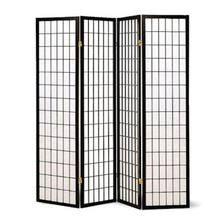 Legacy Decor 4 Panel Japanese Oriental Style Room Screen Divider Black Color Easyhomedecor Folding Room Dividers Bamboo Room Divider Fabric Room Dividers