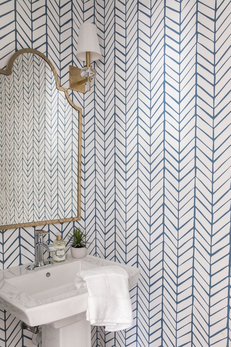 Serena Lily Herringbone Wallpaper Edit By Lauren Bathroom Wallpaper Herringbone Wallpaper Serena And Lily Wallpaper