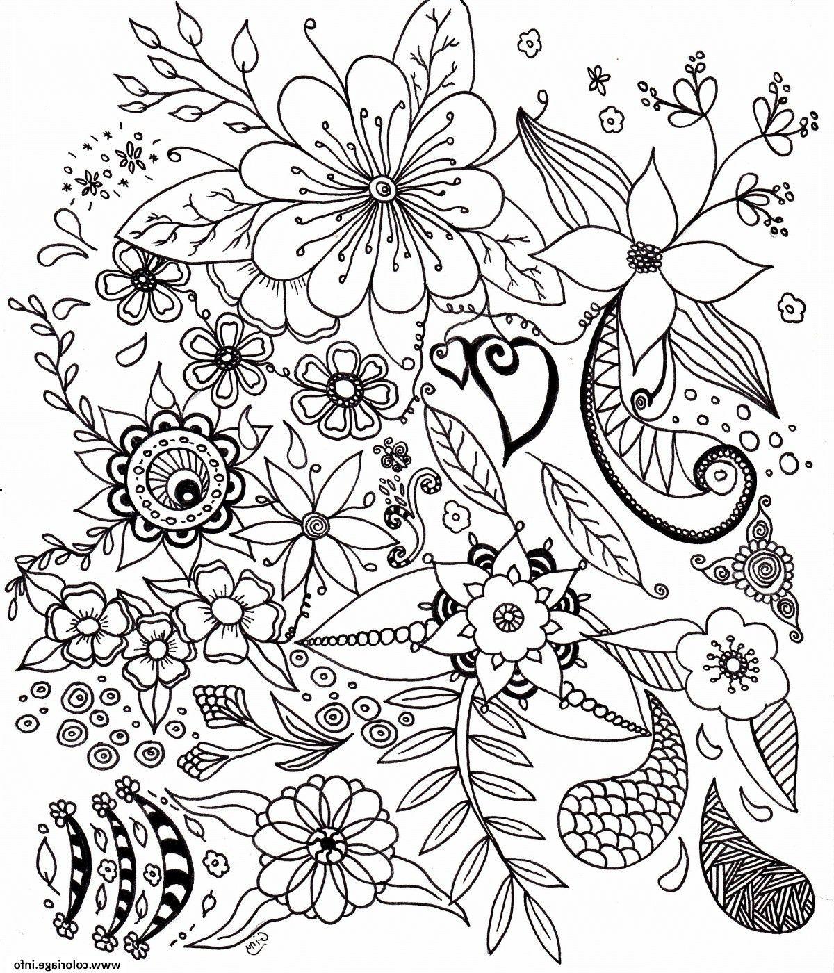 5 Impressionnant De Coloriage Fleur Photographie en 5