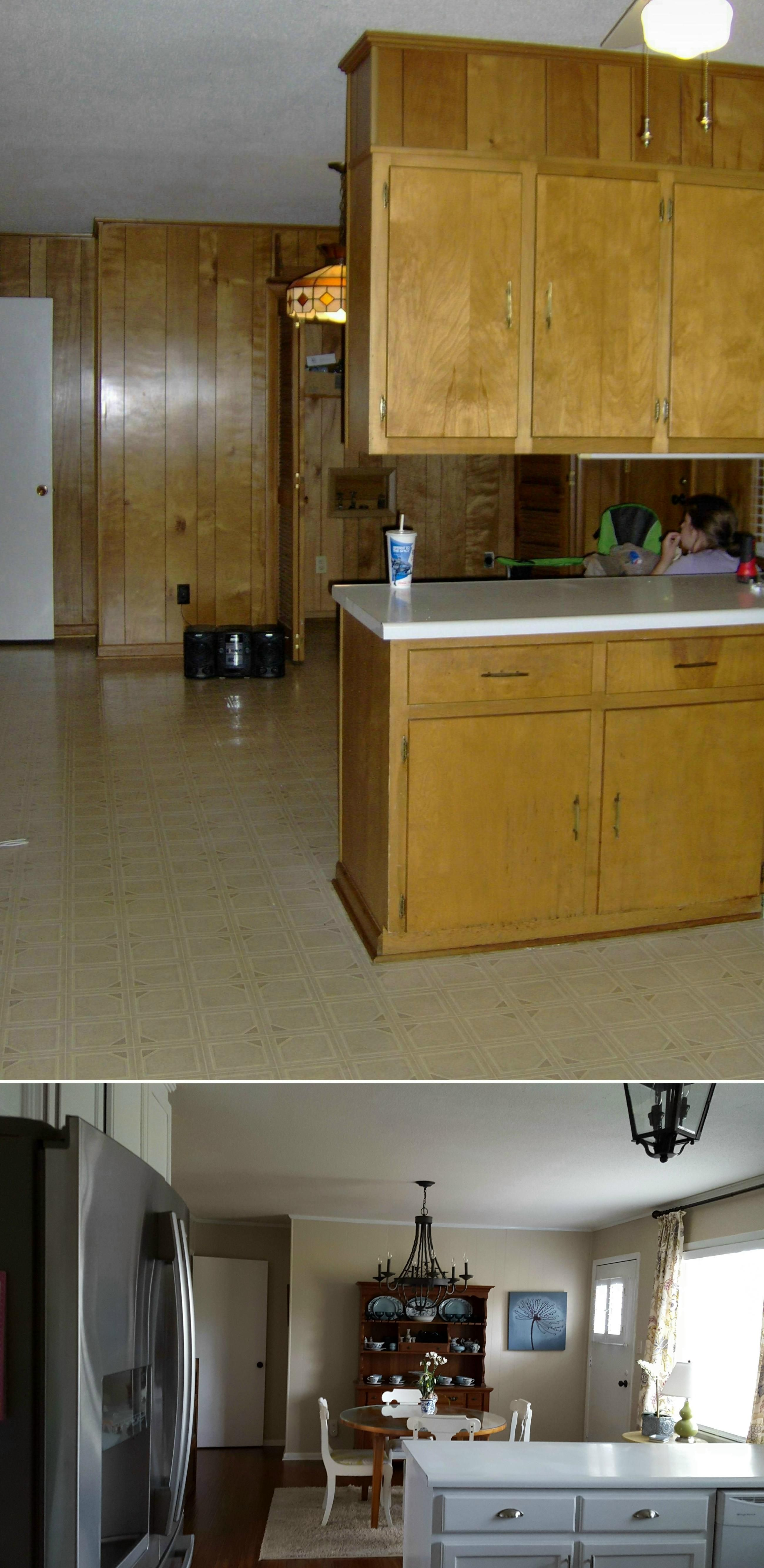 New Kitchen Floor Without Removing Cabinets