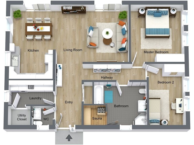 Icymi Rendered Floor Plan Home Design Floor Plans House Design