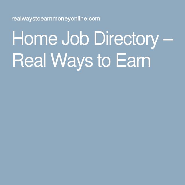 Home Job Directory – Real Ways to Earn