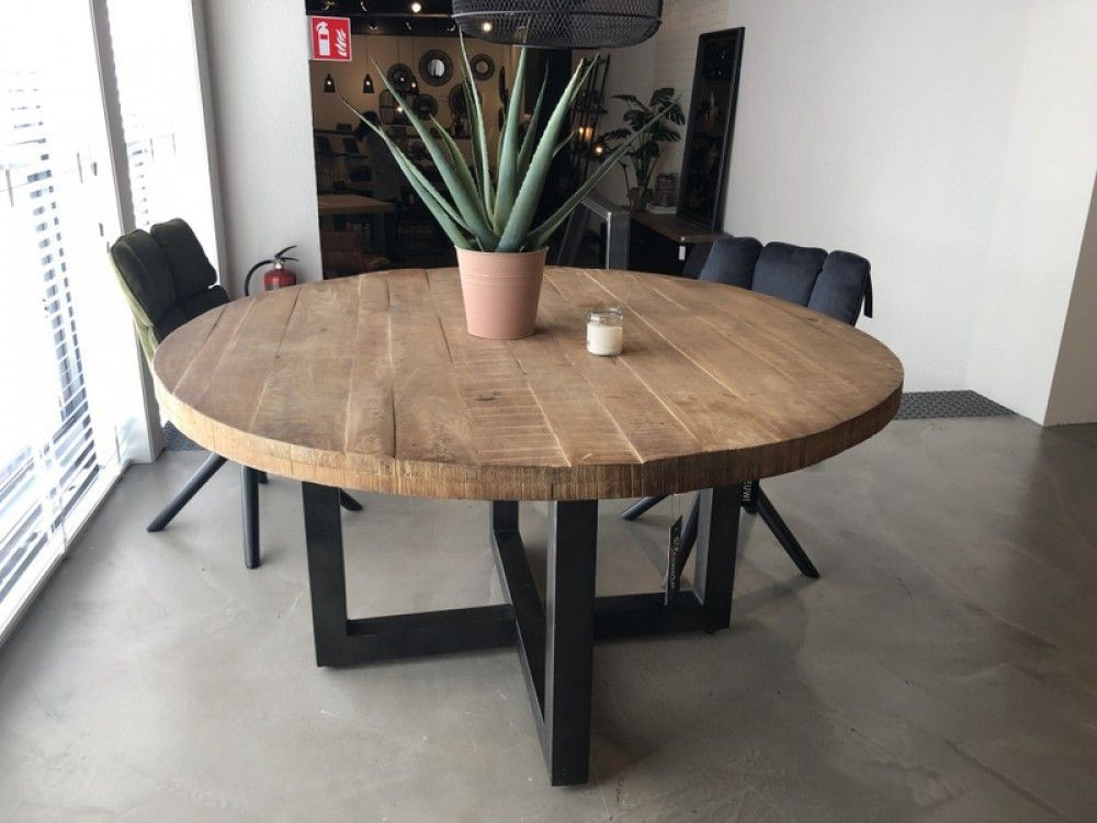 Runder Tisch Grau Naturholz Tisch Rund Industrie Grau Esstisch Rund Landhausstil Durchmesser 130 Cm D In 2020 Naturholz Tisch Runder Esstisch Esstisch Modern