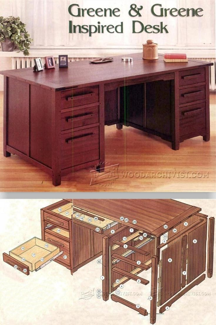 Desk Plans Furniture Plans And Projects Woodarchivist Com Woodworking Furniture Plans Woodworking Diy Furniture Woodworking Projects Furniture