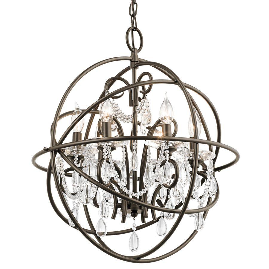 Kichler lighting vivian 1902 in 6 light olde bronze clear glass kichler lighting vivian 1902 in 6 light olde bronze clear glass globe chandelier arubaitofo Images
