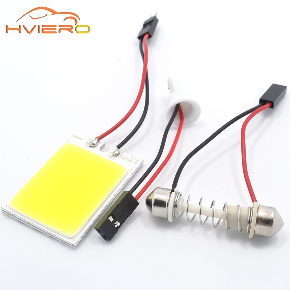 Promotion 1pcs White T10 24 Smd Cob Led Panel Car Auto Interior Reading Map Lamp Bulb Light Dome Festoon Ba9s 3adapter Car Interior Car Led Lamp Bulb