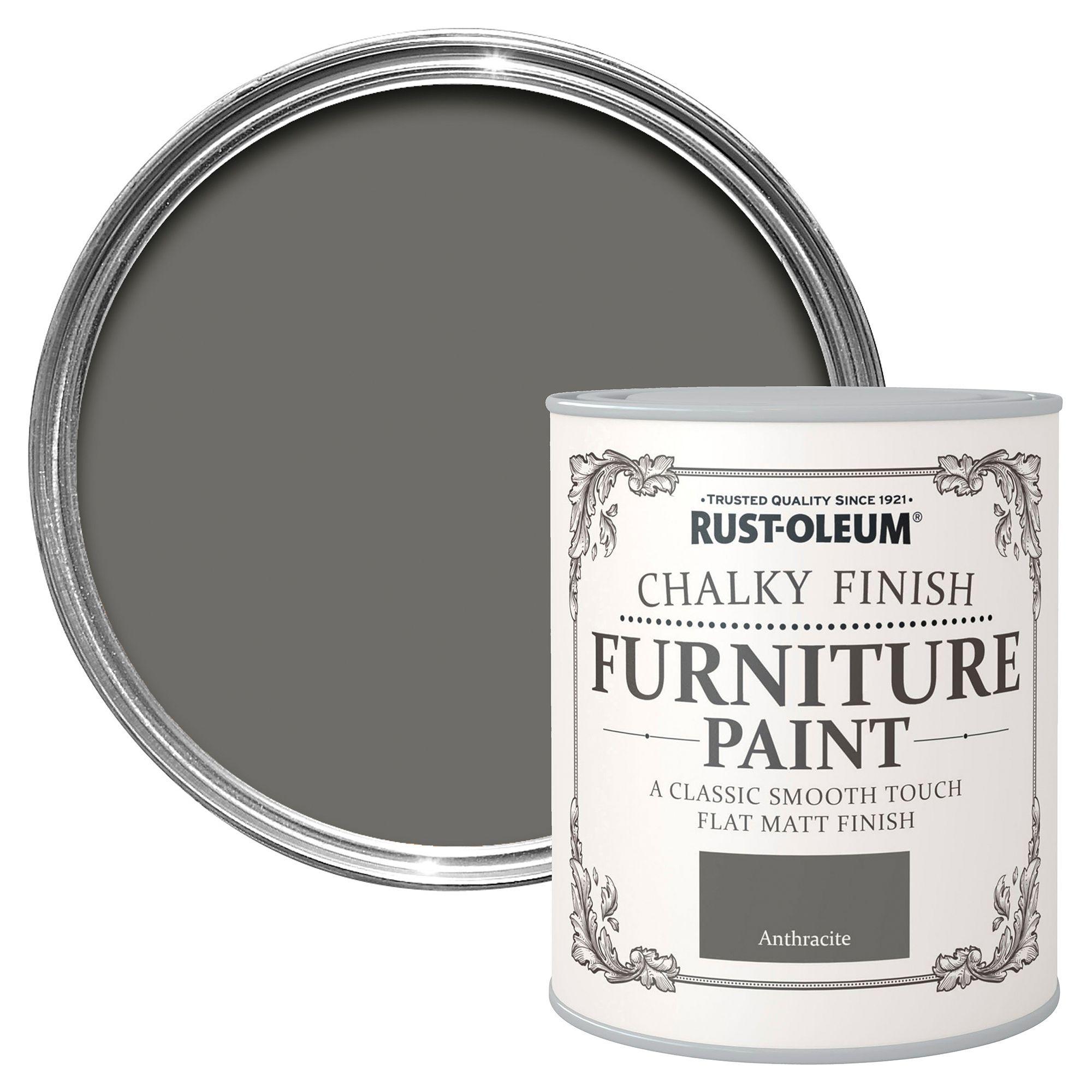 Rust Oleum Anthracite Chalky Matt Furniture Paint 125ml Departments Diy At B Q Painted Furniture Rustoleum Painted Outdoor Furniture