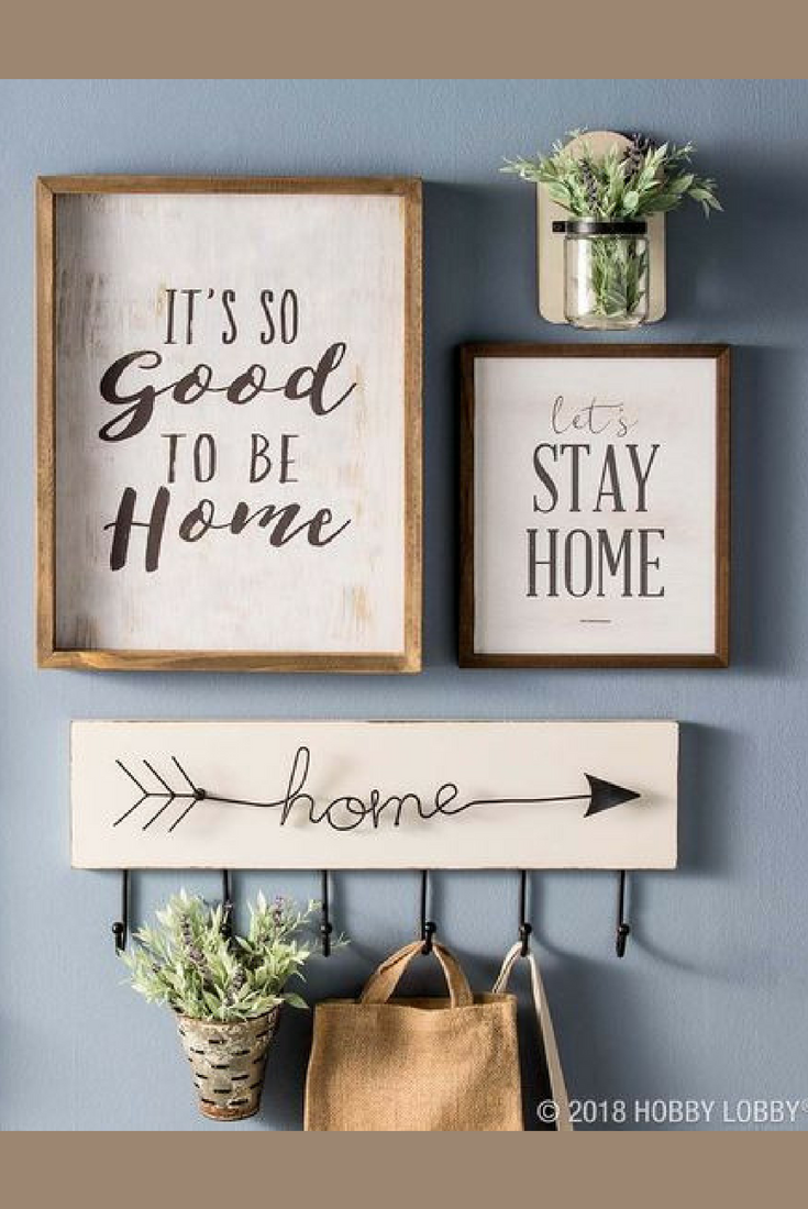 Entryway signs itus so good to be home letus stay home entryway