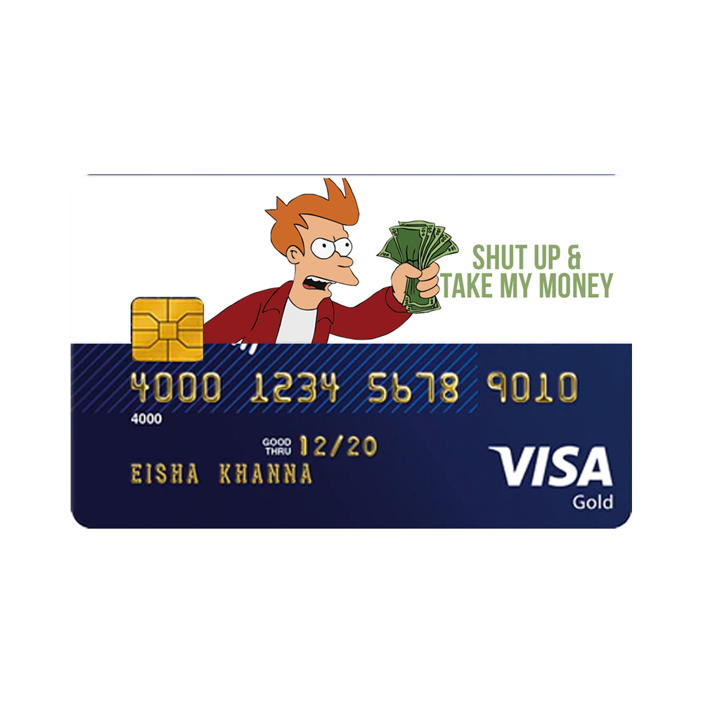 Shut Up Take My Money Card Sticker With Images Take My Money
