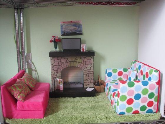 Good American Girl Living Room Dollhouse