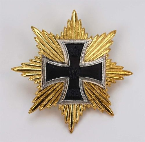 Star of the Grand Cross of the Iron Cross, 1914, which was