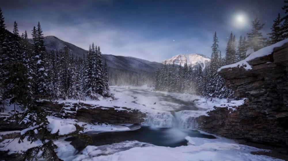 Theme For Windows 10 Beautiful Landscape Winter Mountain River Wallpaper Landscape Wallpaper Theme Wi Beautiful Landscapes Winter Landscape Desktop Themes