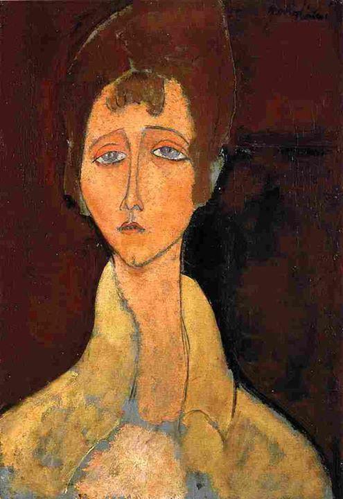 Amedeo Modigliani - Woman in White Coat, 1917 #arte