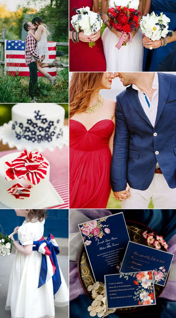 Fourth Of July Inspired Wedding Ideas With Red White And