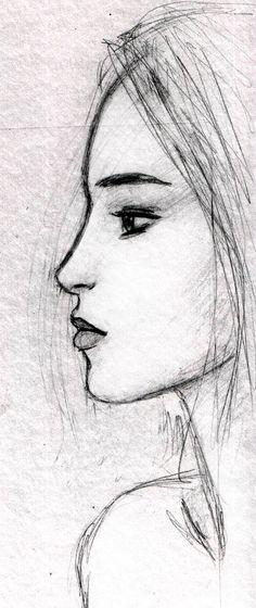 face sketch by dashinvaine.deviantart.com on @DeviantArt